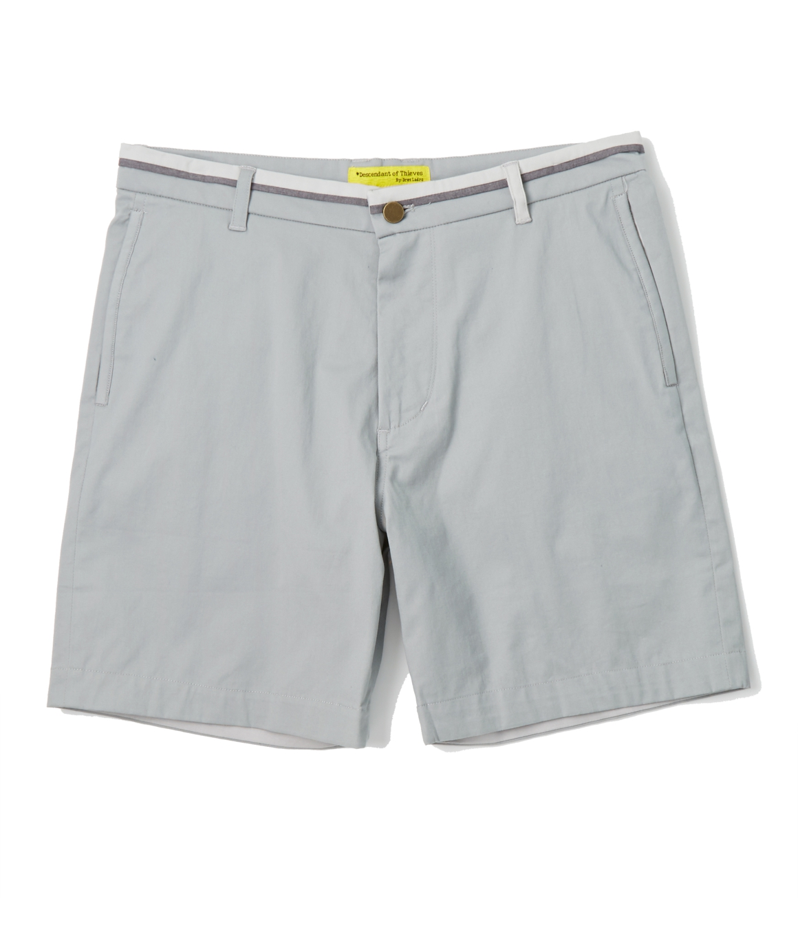 Descendant of Thieves, Strike-Off Contrast Band Short, Frost Grey, Number 1
